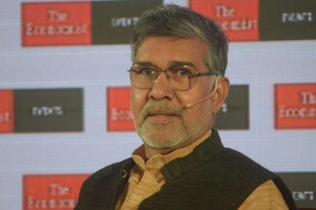 Mumbai: Child Rights activist and Nobel laureate Kailash Satyarthi at 'The Economist India Summit 2018', in Mumbai on Oct 25, 2018. (Photo: IANS) by .