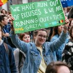 BRUSSELS, Feb. 28, 2019 (Xinhua) -- Students hold placards as they attend a climate march in Brussels, Belgium, on Feb. 28, 2019. A new climate march by schoolchildren and college students was organized across Belgium on Thursday with the participation of Swedish teen climate activist Greta Thunberg. (Xinhua/Zhang Cheng/IANS) by .