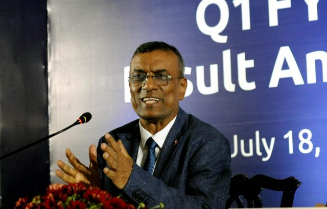 Kolkata: Bandhan Bank CEO and MD Chandra Shekhar Ghosh addresses a press conference at a programme where the bank's first quarter results to the financial year 2018-19 were announced, in Kolkata on July 18, 2018. (Photo: Kuntal Chakrabarty/IANS) by .