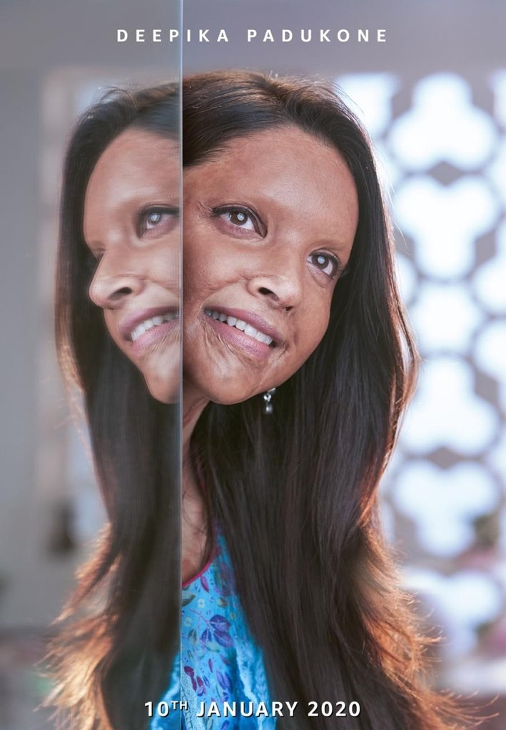 Deepika's acid attack survivor look unveiled. (Photo: Twitter/@deepikapadukone) by .