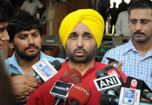 New Delhi: AAP MP Bhagwant Mann at Parliament in New Delhi, on July 22, 2016. (Photo: IANS) by .