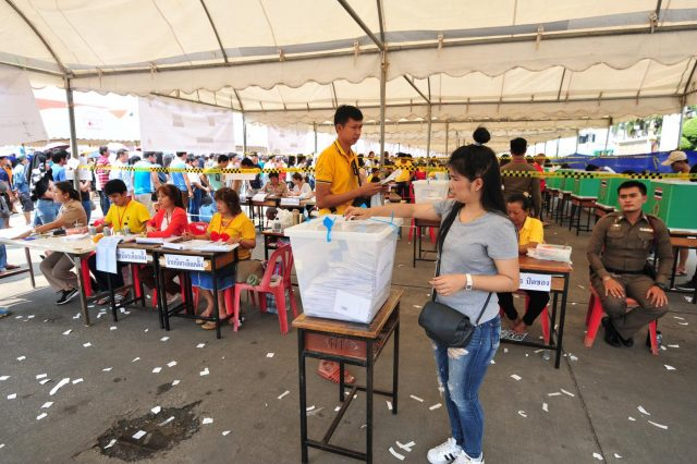 THAILAND-BANGKOK-GENERAL ELECTION-EARLY VOTING by Rachen Sageamsak.