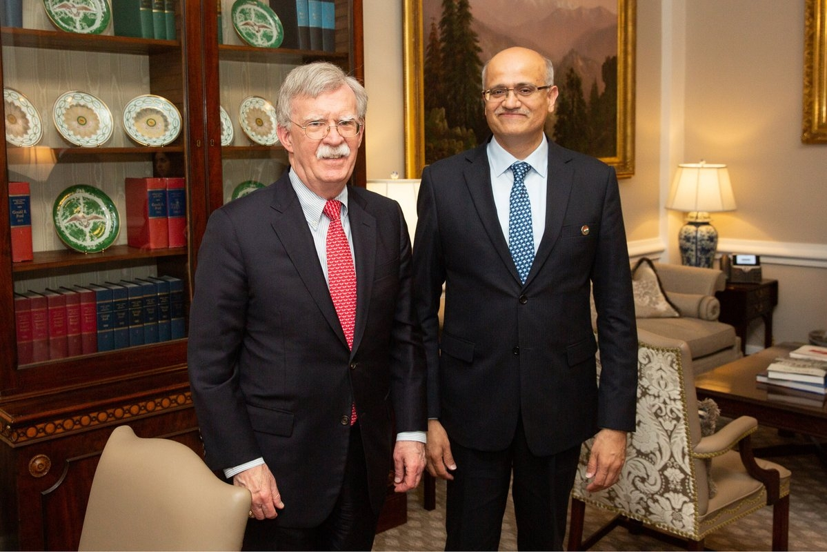 India's Foreign Secretary Vijay Gokhale met with US National Security Adviser John Bolton in Washington on Wednesday, March 13, 2019. (Photo: White House/IANS) by .