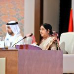 Abu Dhabi: External Affairs Minister Sushma Swaraj addresses at the inaugural session of the 46th Foreign Ministers Meeting of Organisation of Islamic Cooperation (OIC), in Abu Dhabi, UAE, on March 1, 2019. (Photo: IANS/MEA) by .