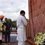 Amritsar: Congress President Rahul Gandhi and Punjab Chief Minister Amarinder Singh pay homage to martyrs of the Jallianwala Bagh massacre at Jallianwala Bagh in Amritsa, on April 13, 2019. (Photo: IANS) by .