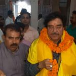 Patna: Actor and Congress' Lok Sabha candidate from Patna Sahib, Shatrughan Sinha during his visit to the Kayastha Chitragupta Temple, in Patna on April 23, 2019. (Photo: IANS) by .