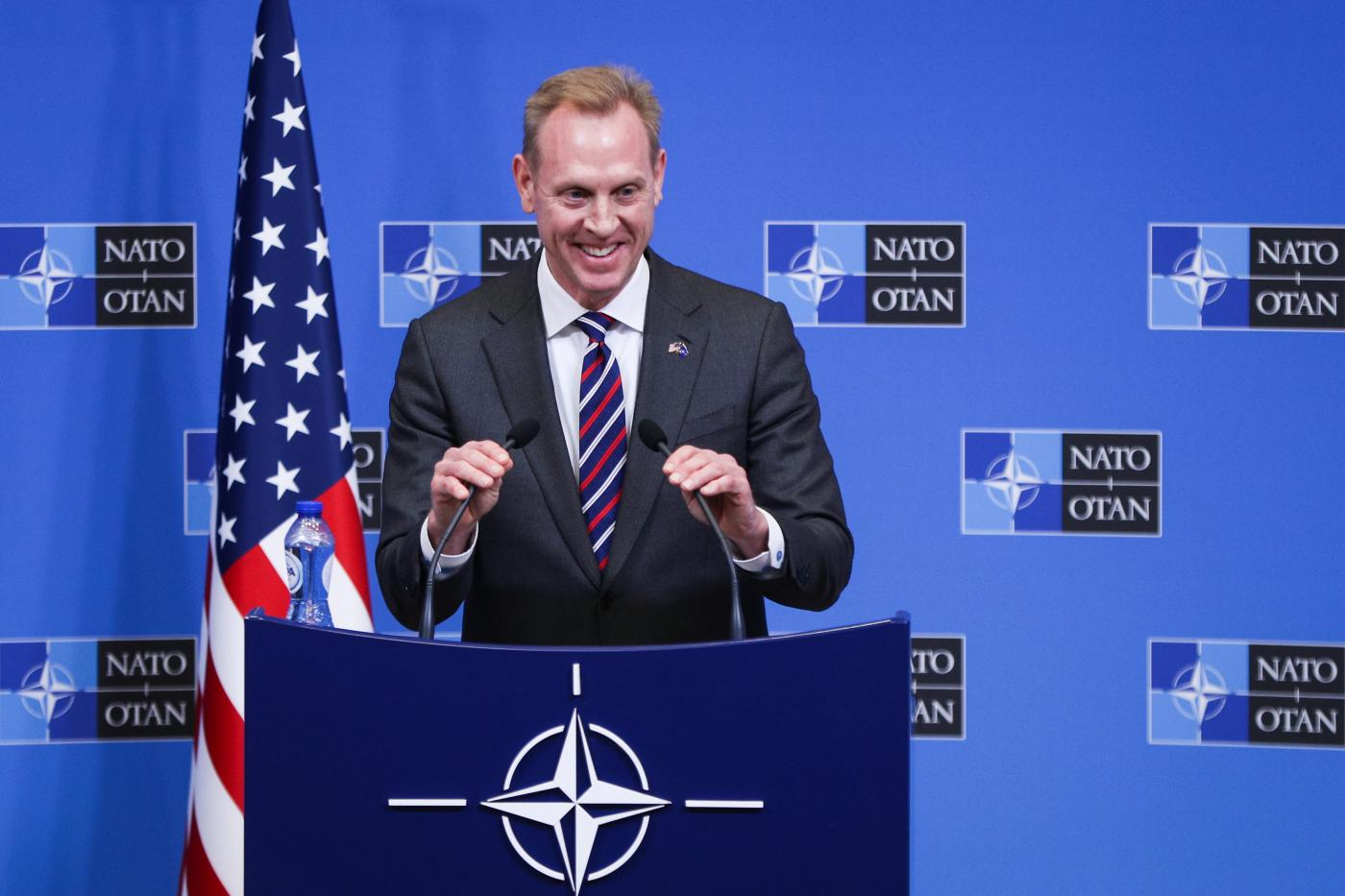 BELGIUM-BRUSSELS-NATO-PRESS CONFERENCE by Zheng Huansong.
