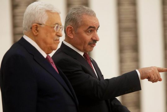 MIDEAST-RAMALLAH-NEW PALESTINIAN GOVERNMENT-SWEARING IN by Fadi Arouri.