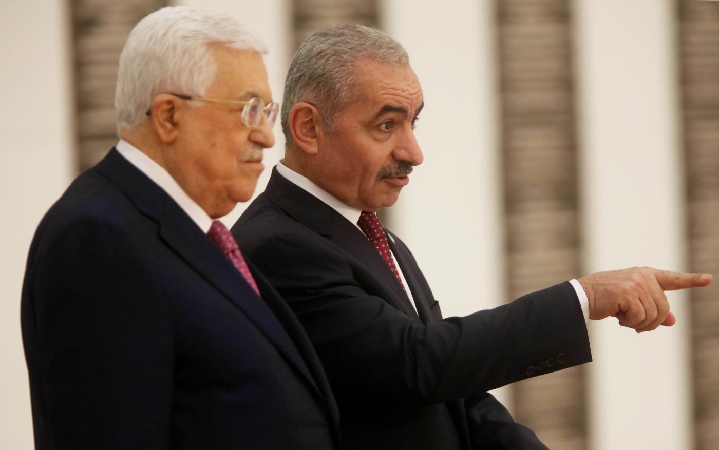MIDEAST-RAMALLAH-NEW PALESTINIAN GOVERNMENT-SWEARING IN by Fadi Arouri.