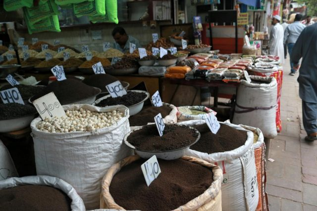 New Delhi: Spices on sale at a shop in Khari Baoli whole sale market near Chandni Chowk, in New Delhi. (File Photo: IANS) by .