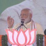 Dindori: Prime Minister Narendra Modi addresses a public rally in Dindori, Maharashtra on April 22, 2019. (Photo: IANS) by .