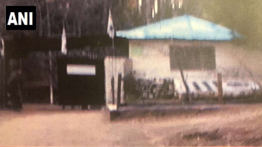 Intel Sources: Picture of JeM facility destroyed by Indian Ar Force strikes in Balakot, Pakistan. (Photo as released by ANI) by .