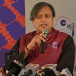 Jaipur: Congress MP Shashi Tharoor addresses during the 12th edition of Jaipur Literature Festival on Jan 25, 2019. (Photo: Shaukat Ahmed/IANS) by .