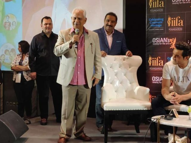 Bangkok (Thailand): Filmmaker Ramesh Sippy, actor Bobby Deol and Thai actress Pinky Savika at the exhibition of old Bollywood film paintings and posters in Bangkok, held ahead of IIFA (International Indian Film Academy) Awards on June 21, 2018. (Photo: IANS) by .