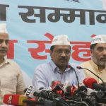 New Delhi: Delhi Chief Minister Arvind Kejriwal accompanied by Deputy Chief Minister Manish Sisodia and Cabinet Minister Gopal Rai, addresses a press conference after releasing AAP's election manifesto for the 2019 Lok Sabha elections, in New Delhi on April 25, 2019. (Photo: IANS) by .