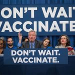 New York Mayor Bill de Blasio, center, announces the declaration of a health emergency because of the spread of measles. (Photo: Mayor's Office/IANS) by .