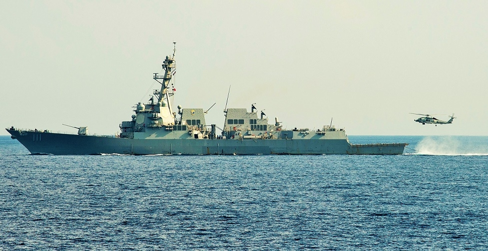 US Navy guided-missile destroyer USS Spruance participated in the submarine-hunting exercise conducted by the US and Indian navies in the Indian Ocean on April 15, 2019. (Photo: US Navy/IANS) by .