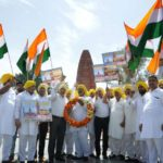 Amritsar: Activists of the All-India Anti-Terrorist Front (AIATF) participate in a rally to pay tributes to the martyrs of 1919 JallianwalaBagh massacre ahead of the 100th anniversary of the massacre, in Amritsar on April 11, 2019. (Photo: IANS) by .