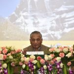 New Delhi: MoS External Affairs V.K. Singh addresses the first batch of 58 pilgrims going via Lipulekh pass during the flagging off ceremony of the Kailash Mansarovar Yatra 2018; in New Delhi on June 11, 2018. (Photo: IANS/MEA) by .