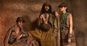 "New Delhi: Models showcase ""Kashgaar Bazaar"" collection, a creation by fashion designer Sabyasachi Mukherjee on the 20th year celebrations of his brand ""Sabyasachi"", in New Delhi, on April 6, 2019. (Photo: IANS) by ."