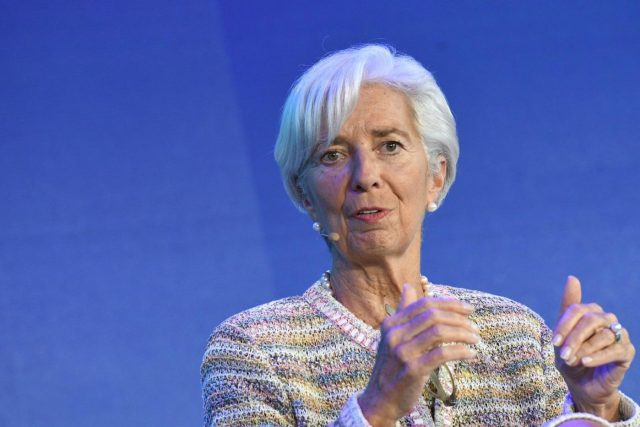 SINGAPORE, Nov. 8, 2018 (Xinhua) -- International Monetary Fund Managing Director Christine Lagarde attends the closing session of the New Economy Forum in Singapore on Nov 7, 2018. (Xinhua/Then Chih Wey/IANS) by .