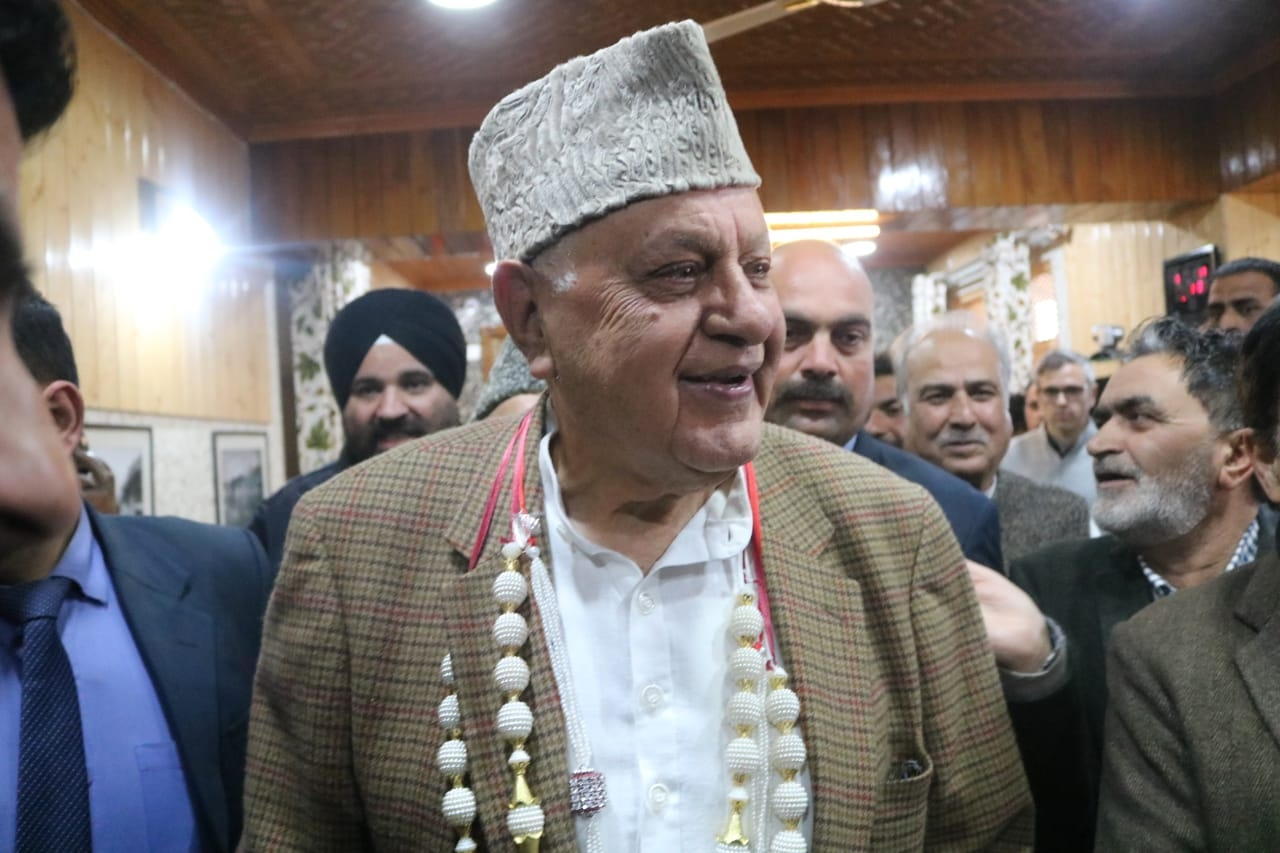 Srinagar: National Conference (NC) President and former Chief Minister Farooq Abdullah arrives to file his nomination papers for the Srinagar Lok Sabha seat of Jammu and Kashmir, on March 25, 2019. (Photo: IANS) by .