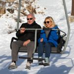 GOLAN HEIGHTS, April 23, 2019 (Xinhua) -- Israeli Prime Minister Benjamin Netanyahu (L) and his wife Sarah Netanyahu are seen on a chairlift at the Hermon resort on the Golan Heights, on April 23, 2019. Israeli Prime Minister Benjamin Netanyahu said on Tuesday that he will name a new community in the Golan Heights after U.S. President Donald Trump, who recognized Israel's sovereignty over the occupied Syrian territory in March. (Xinhua/JINI/IANS) by .
