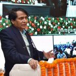 New Delhi: Union Civil Aviation Minister Suresh Prabhu addresses at the inauguration of aviation infrastructure development projects via video conference, in New Delhi, on Feb 22, 2019. (Photo: IANS/PIB) by .