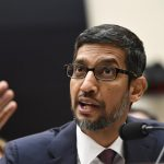 """WASHINGTON, Dec. 11, 2018 (Xinhua) -- Google CEO Sundar Pichai testifies before U.S. House of Representatives Judiciary Committee during a hearing """"Transparency & Accountability: Examining Google and its Data Collection, Use and Filtering Practices"""" on Capitol Hill in Washington D.C., the United States, on Dec. 11, 2018. (Xinhua/Liu Jie/IANS) by ."""