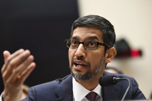 WASHINGTON, Dec. 11, 2018 (Xinhua) -- Google CEO Sundar Pichai testifies before U.S. House of Representatives Judiciary Committee during a hearing