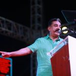 Puducherry: Makkal Needhi Maiam (MNM) President Kamal Haasan addresses during a party rally in Puducherry, on March 31, 2019. (Photo: IANS) by .