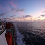BOARD XUELONG, March 6, 2019 (Xinhua) -- Photo taken on March 5, 2019 shows the evening glow seen from China's research icebreaker Xuelong on the South China Sea. China's research icebreaker Xuelong, carrying members of China's 35th research mission to Antarctica, sailed on the South China Sea on Wednesday and is expected to return to Shanghai six days later. (Xinhua/Liu Shiping/IANS) by .