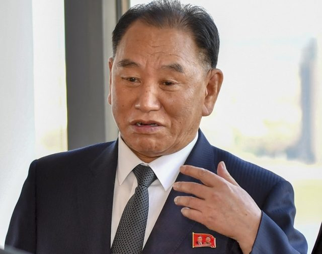 Kim Yong-chol, the envoy of North Korean leader Kim Jong-un. He met United States President Donald Trump in Washington on Friday, June 1, 2018, and handed him a letter from Kim. (Photo: State Dept./IANS) by .
