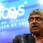 Bengaluru: Infosys co-founder and chairman Nandan Nilekani addresses at company's Q3 results at Infosys campus, in Bengaluru on Jan 12, 2018. (Photo:IANS) by .