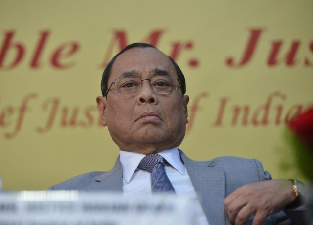 New Delhi: Chief Justice of India Ranjan Gogoi during the farewell ceremony of Justice A.K. Sikri in New Delhi, on March 6, 2019. (Photo: IANS) by .