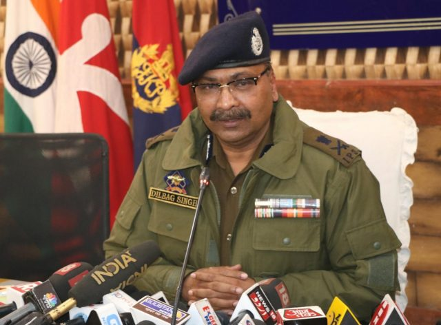 Srinagar: Jammu and Kashmir Director General of Police Dilbag Singh addresses a press conference in Srinagar on Nov 28, 2018. (Photo: IANS) by .