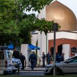 CHRISTCHURCH, March 16, 2019 (Xinhua) -- Policemen are seen outside a mosque in Christchurch, New Zealand, on March 16, 2019. The death toll from attacks on two mosques in New Zealand's Christchurch rose to 49 and 48 others were wounded. (Xinhua/Zhu Qiping/IANS) by .