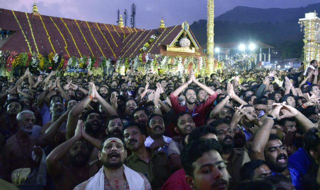 Pathanamthitta: Scores of believers from different parts of the country visit Sabarimala Temple in Kerala's Pathanamthitta to witness