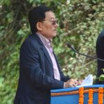 Kabi: Sikkim Chief Minister, Sikkim Democratic Front (SDF) President and the party's candidate from Namchi-Singithang and Poklok-Kamrang seats, Pawan Kumar Chamling addresses during a public rally at Kabi in North Sikkim district of Sikkim on April 4, 2019. (Photo: IANS) by .