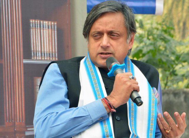 Kolkata: Congress leader Shashi Tharoor addresses at