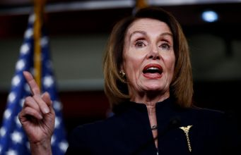 """WASHINGTON, Feb. 14, 2019 (Xinhua) -- U.S. House Speaker Nancy Pelosi speaks during a press conference on Capitol Hill in Washington D.C., the United States, on Feb. 14, 2019. U.S. President Donald Trump is prepared to sign a bipartisan bill on spending and border security to avert another government shutdown, but also declare a national emergency to obtain funds for his long-promised border wall, the White House said Thursday. Nancy Pelosi, the top Democrat in the House, said her party is """"reviewing our options"""" in responding to the anticipated emergency declaration. (Xinhua/Ting Shen/IANS) by ."""