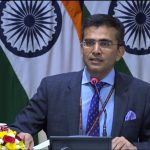 New Delhi: Ministry of External Affairs Spokesperson Raveesh Kumar during weekly media briefing in New Delhi on March 15, 2018. (Photo: Video Grab/IANS/MEA) by .