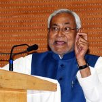 Patna: Bihar Chief Minister Nitish Kumar addresses during a programme organised to launch various development projects in Patna on March 6, 2019. (Photo: IANS) by .