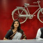 Lucknow: Former Congress leader Shalini Yadav joins Samajwadi Party in the presence of party President Akhilesh Yadav, at the party's headquarter in Lucknow on April 22, 2019. (Photo: IANS) by .