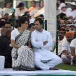 New Delhi: Congress President Rahul Gandhi, General Secretary (Uttar Pradesh East) Priyanka Gandhi Vadra during a ceremony to pay homage to their father, former Prime Minister Rajiv Gandhi on his death anniversary, in New Delhi, on May 21, 2019. (Photo: IANS) by .