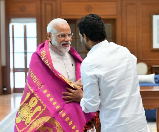 New Delhi: YSR Congress Party leader Jaganmohan Reddy meets Prime Minister Narendra Modi in New Delhi, on May 26, 2019. (Photo: IANS) by .