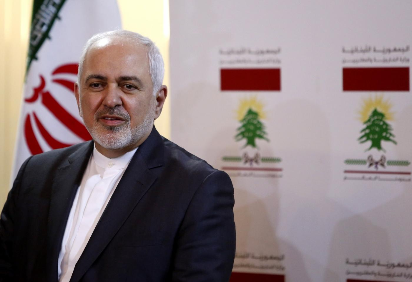 TEHRAN, Feb. 26, 2019 (Xinhua) -- Photo taken on Feb. 11, 2019 shows Iranian Foreign Minister Mohammad Javad Zarif attending a press conference in Beirut, Lebanon. Mohammad Javad Zarif seemed to have announced resignation on Feb. 25, 2018 through social media.