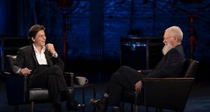 Shah Rukh Khan with David Letterman. by .