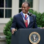Tiger Woods receives Presidential Medal of Freedom. (Photo: Twitter/@TigerWoods) by .