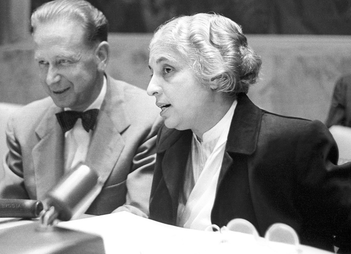 Vijaya Lakshmi Pandit became the first woman elected president of the United Nations General Assembly in 1953. (Photo: UN/IANS) by .